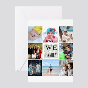Family greeting cards cafepress custom family photo collage greeting cards m4hsunfo