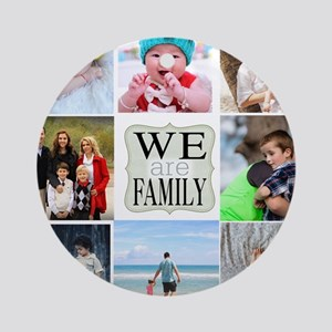 Custom Family Photo Collage Round Ornament