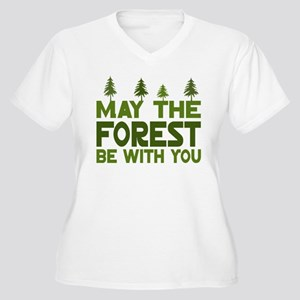 May the Forest.. Women's Plus Size V-Neck T-Shirt
