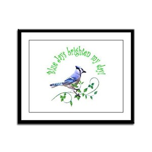 Blue Jay Framed Panel Print