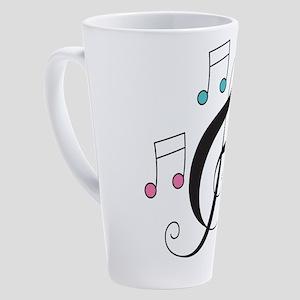Treble Clef Music Gift 17 oz Latte Mug