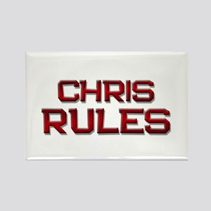chris rules Rectangle Magnet