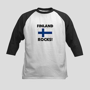 Finland Rocks Kids Baseball Jersey