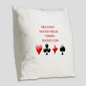 second hand Burlap Throw Pillow