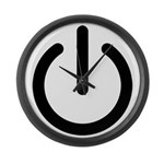 Power Switch Large Wall Clock