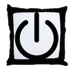 Power Switch Throw Pillow
