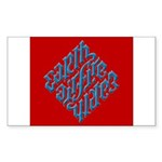 Earth, Air, Fire, Water Rectangle Sticker