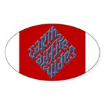 Earth, Air, Fire, Water Oval Sticker