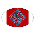 Earth, Air, Fire, Water Oval Sticker (50 pk)