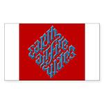 Earth, Air, Fire, Water Rectangle Sticker 50 pk)