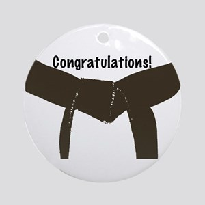 Martial Arts Congratulations Brown Belt Ornament