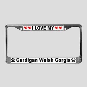 Love/Hearts Cardigan Corgis