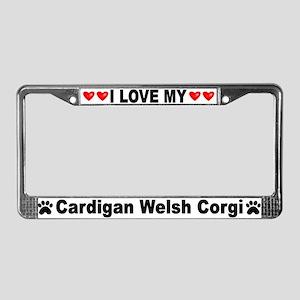 Love/Hearts Cardigan Corgi
