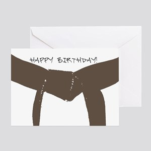 Brown Belt Happy Birthday Card