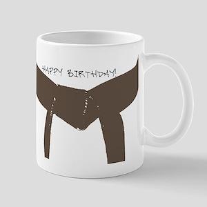Brown Belt Happy Birthday Mug