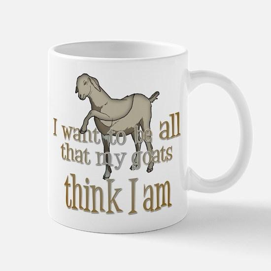 My Goats think I Am Mug