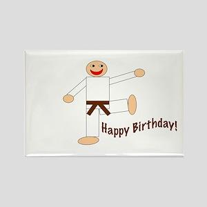 Martial Arts Brown Belt Birthday Rectangle Magnet