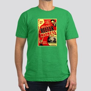Marijuana Reefer Madness (Front) Men's Fitted T-Sh