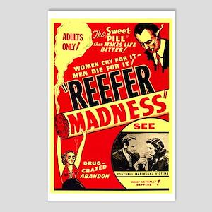 Marijuana Reefer Madness Postcards (Package of 8)