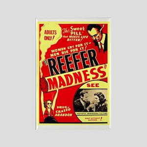 Marijuana Reefer Madness Rectangle Magnet