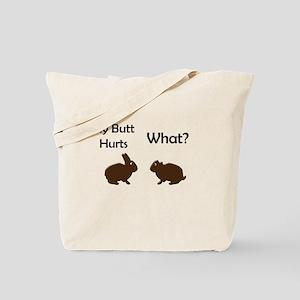 1/2 Bunny Tote Bag