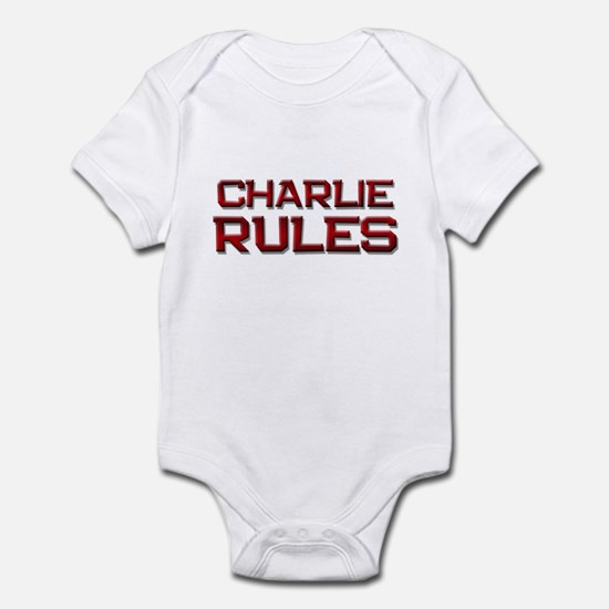 charlie rules Infant Bodysuit