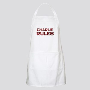 charlie rules BBQ Apron