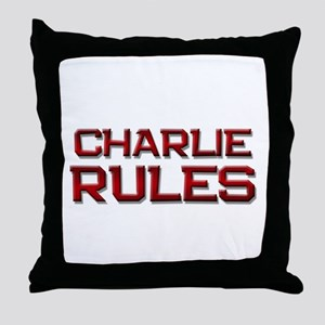 charlie rules Throw Pillow