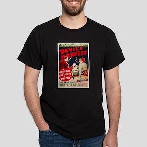 Marijuana Devil's Harvest Pot (Front) Dark T-Shirt