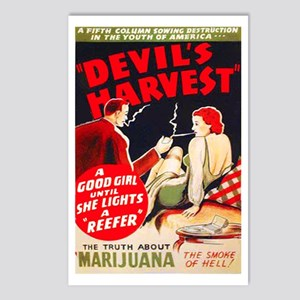 Marijuana Devils Harvest Pot Postcards Package O