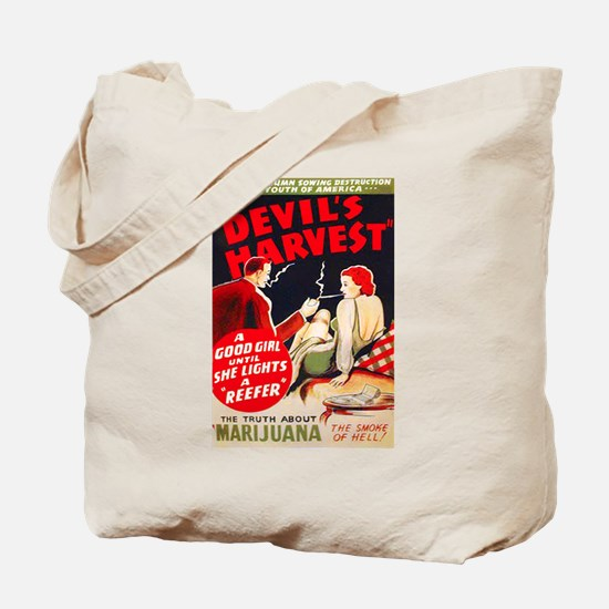 Marijuana Devil's Harvest Pot Tote Bag