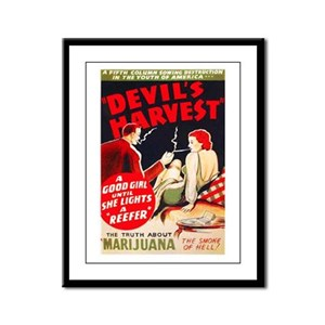 Marijuana Devil's Harvest Pot Framed Panel Print