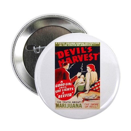 "Marijuana Devil's Harvest Pot 2.25"" Button"