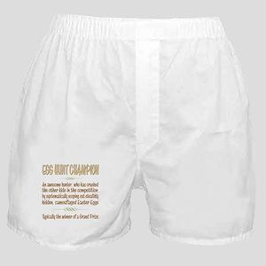 Easter Egg Hunt Champion Definition Boxer Shorts