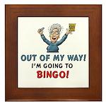 BINGO!! Framed Tile Picture