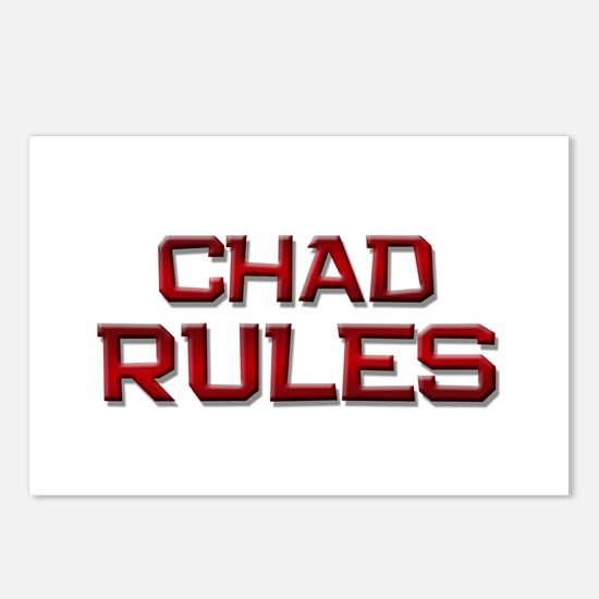 chad rules Postcards (Package of 8)