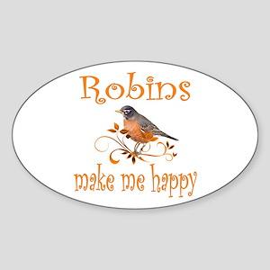 Robin Oval Sticker