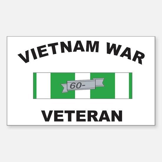 Vietnam War Veteran 1 Rectangle Decal