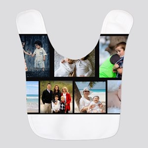 7 Photo Family Collage Polyester Baby Bib