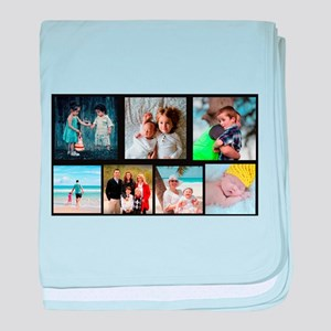 7 Photo Family Collage baby blanket