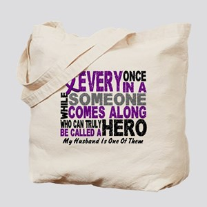 Hero Comes Along Husband Pancreatic Cancer Tote Ba