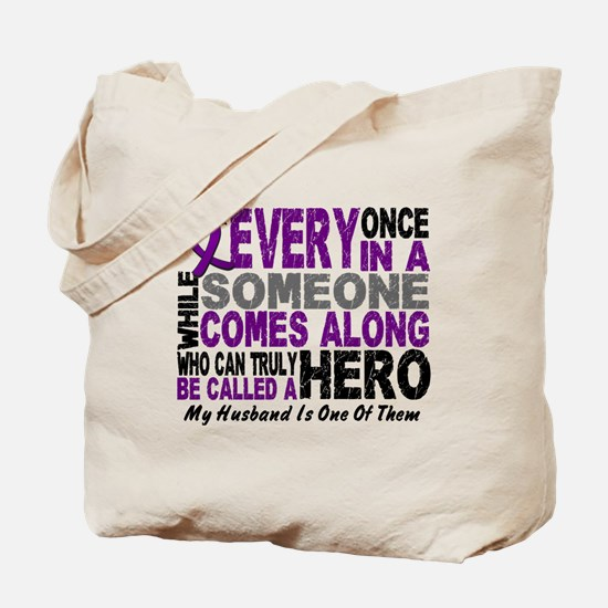 Hero Comes Along Husband Pancreatic Cancer Tote Ba