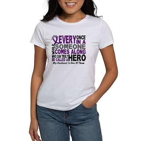 Hero Comes Along Husband Pancreatic Cancer Shirt W