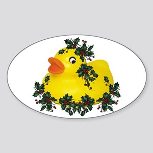 dUcK tHe hAllS! Oval Sticker