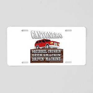 Canyonero.png Aluminum License Plate