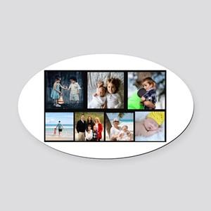 7 Photo Family Collage Oval Car Magnet