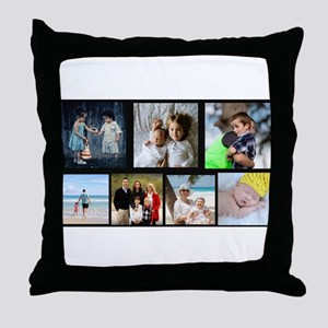 7 Photo Family Collage Throw Pillow