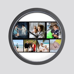 7 Photo Family Collage Wall Clock