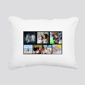 7 Photo Family Collage Rectangular Canvas Pillow
