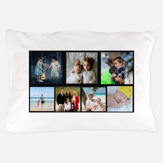 7 Photo Family Collage Pillow Case